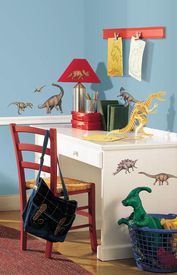 Roommates wandsticker dinos wandtattoo dinosaurier dino - Wandtattoo dinosaurier ...