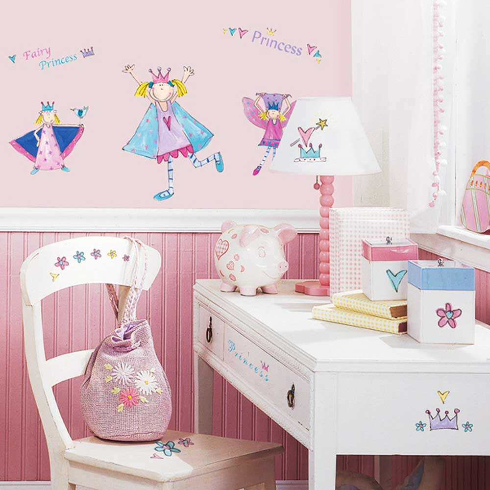 roommates wandtattoo kleine prinzessin kinderzimmer. Black Bedroom Furniture Sets. Home Design Ideas