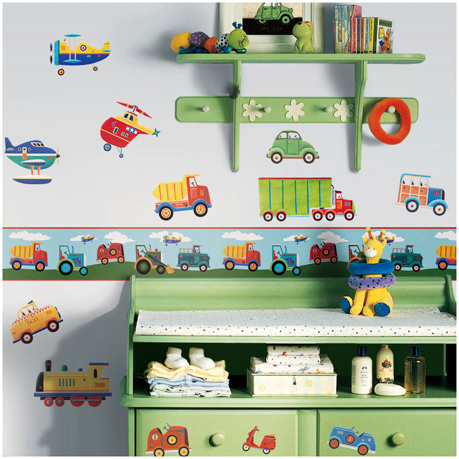 bord re transportfahrzeuge tapeten borte kinderzimmer jungen auto autos 5 25 1m ebay. Black Bedroom Furniture Sets. Home Design Ideas