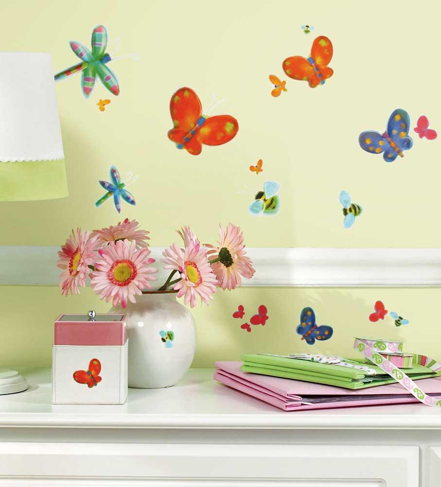 RoomMates Wandsticker Wandtattoos Schmetterlinge Bienen Libellen ...