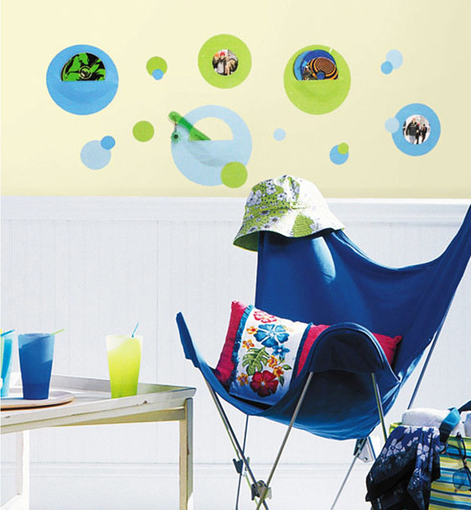 roommates wandsticker wandtaschen blau gr n kinderzimmer. Black Bedroom Furniture Sets. Home Design Ideas