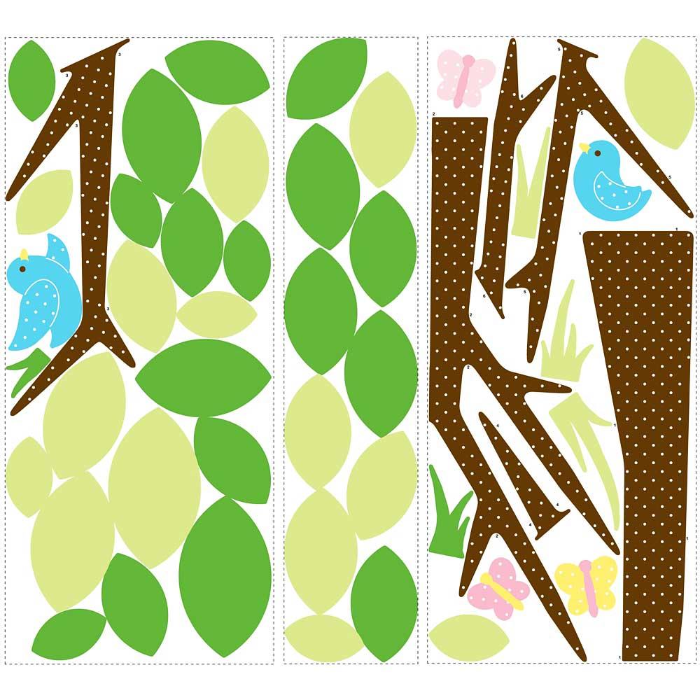 Roommates wandsticker wandbild baum punktebl tterbaum - Roommates wandsticker ...