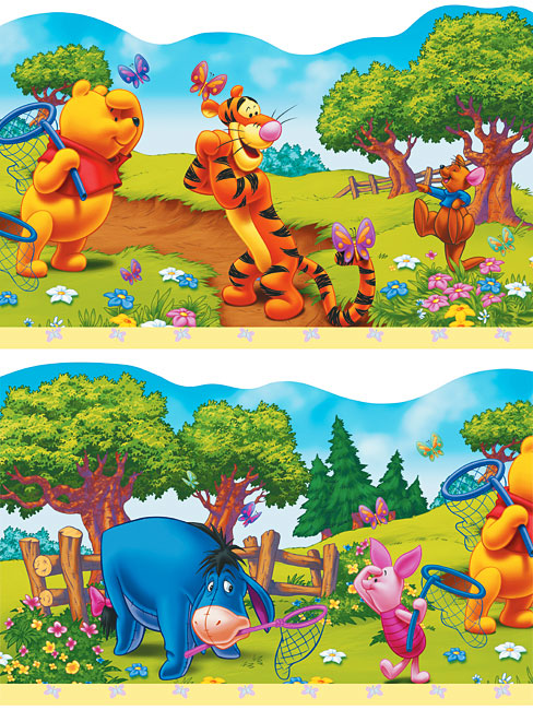 Kinderzimmer Tapeten Bord?re : Kinderzimmer Bord?re Winnie Pooh-Winnie the Pooh