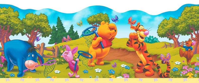 character world bord re tapeten borte disney winnie pooh selbstklebend www 4. Black Bedroom Furniture Sets. Home Design Ideas
