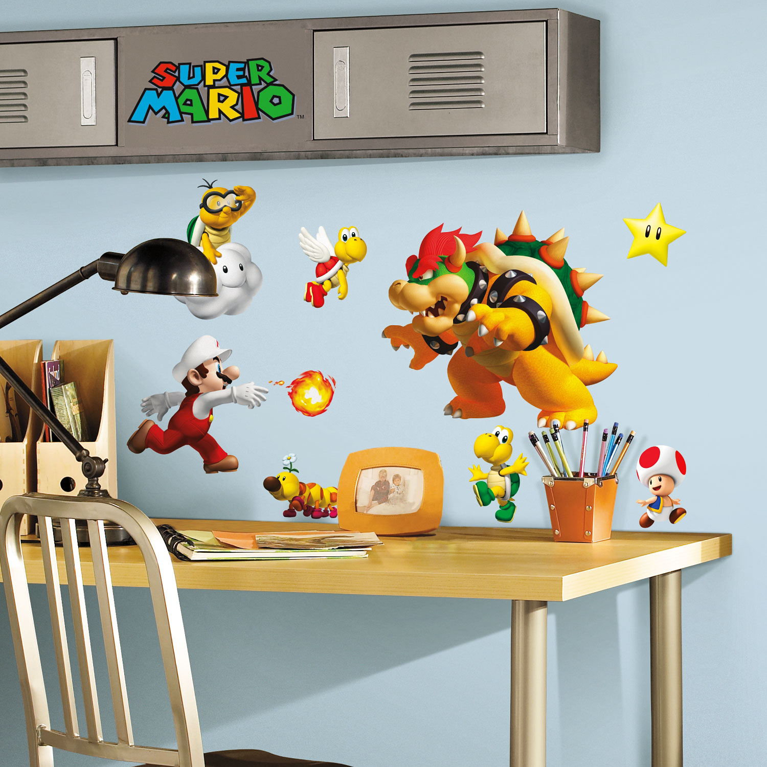roommates wandsticker wandtattoo super mario www 4. Black Bedroom Furniture Sets. Home Design Ideas