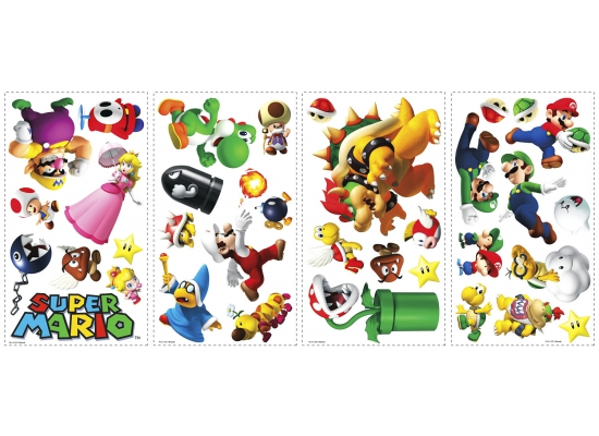 RoomMates Wandsticker Wandtattoo Super Mario | www.4-haen.de