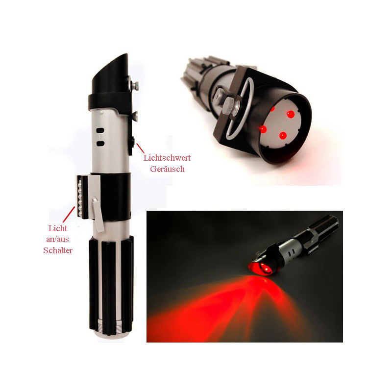 laserschwert darth vader taschenlampe star wars. Black Bedroom Furniture Sets. Home Design Ideas