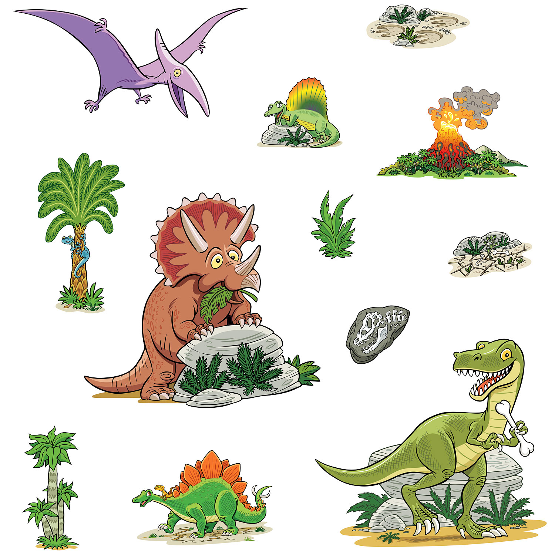 Funtosee wandsticker set dinosaurier insel t rex - Funtosee wandsticker ...